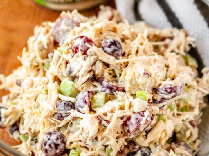Nutrition Connection Healthy Recipes - Chicken Salad with Red Grapes and Pecans